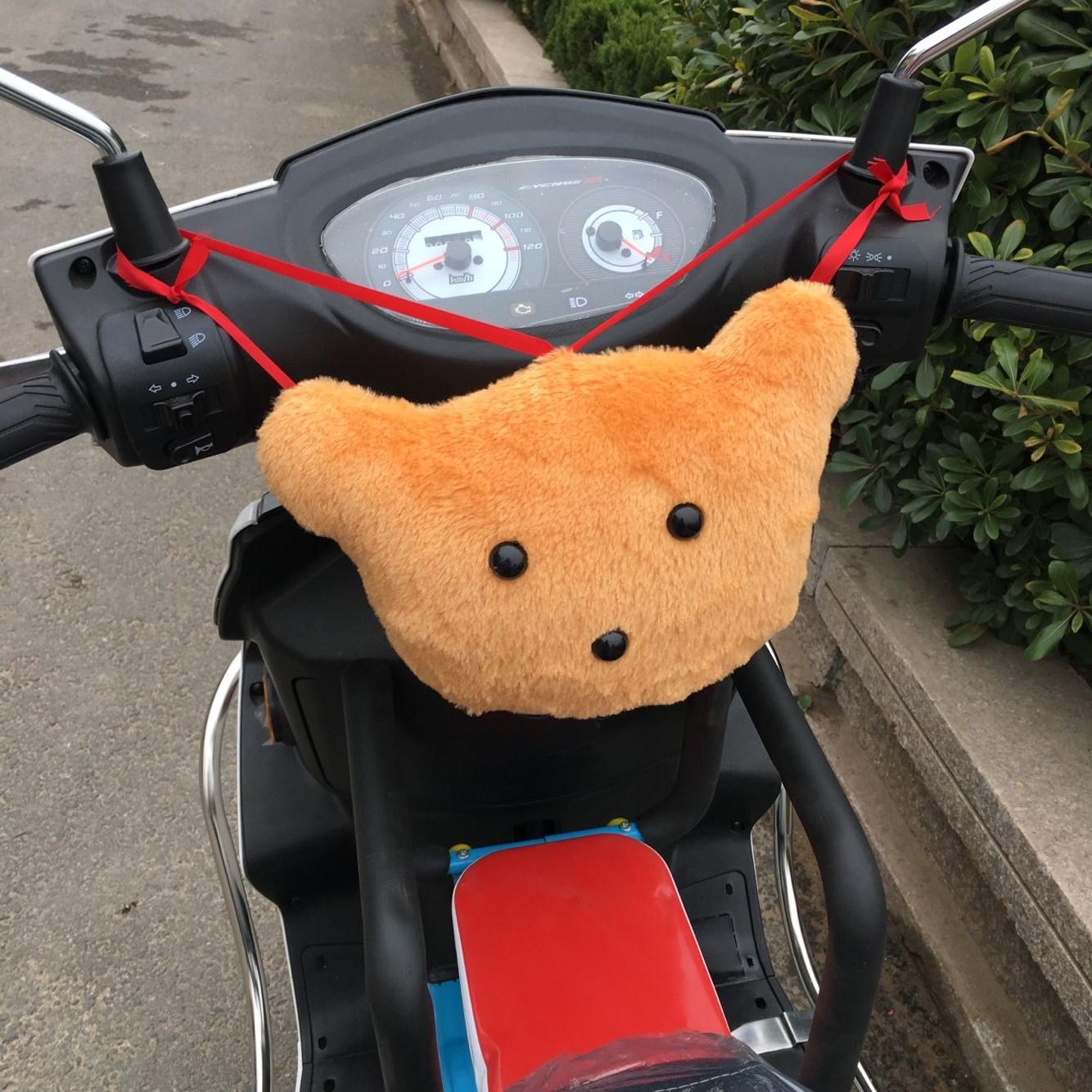 Электрический велосипед педаль мотоцикл передний ребенок передний сиденье авария шевелюра бархатная подушка против хит пакет авария подушка