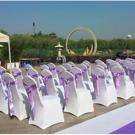 加厚白色弹力椅套宴会会议饭店庆典婚庆婚礼酒店椅子套座椅背套