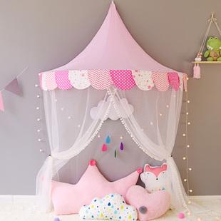 公主房裝飾小帳篷卧室牀上讀書角佈置女孩過家家兒童房室內玩具屋