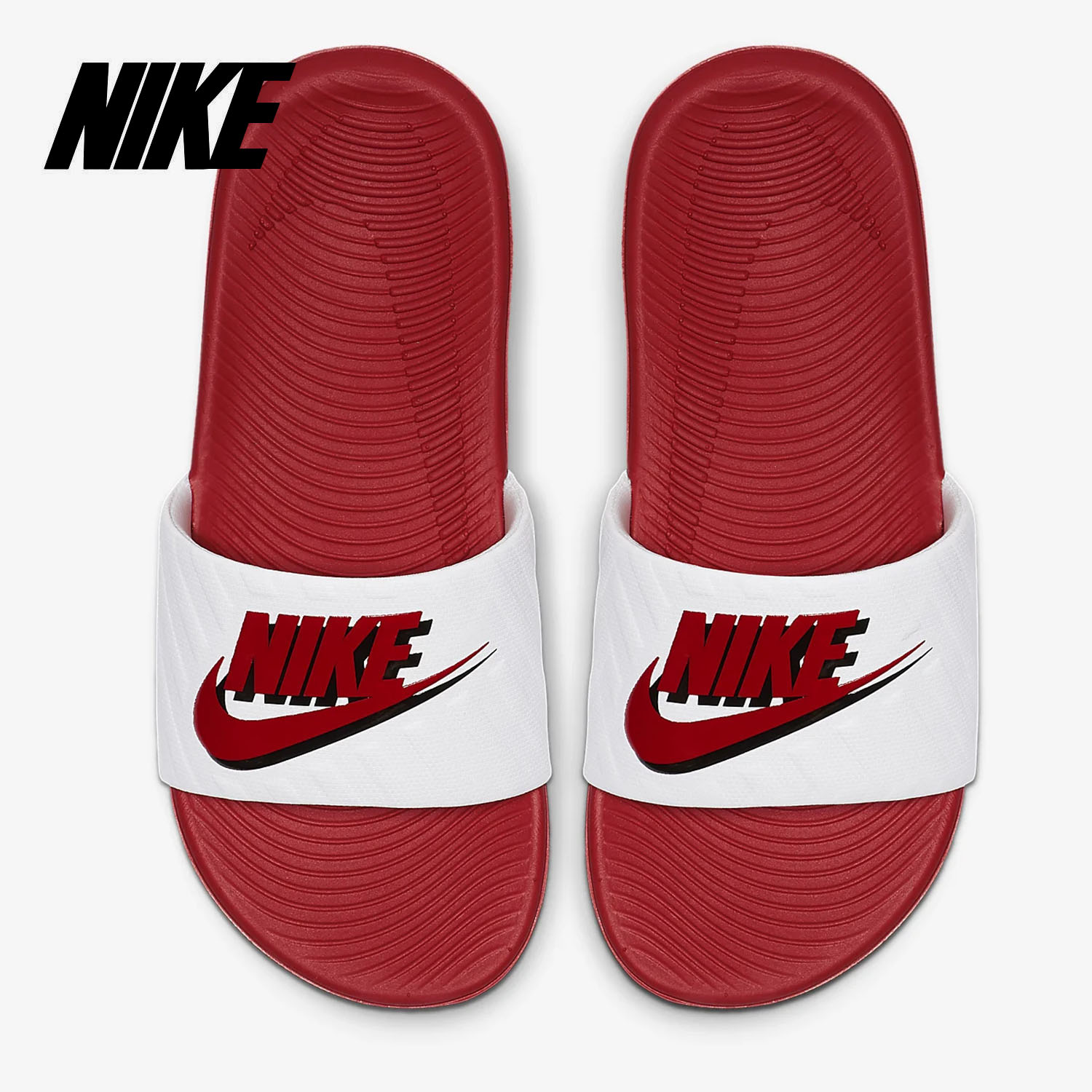 (用1元券)Nike/耐克正品 KAWA SLIDE JDI (GS/PS) 女子大童拖鞋C
