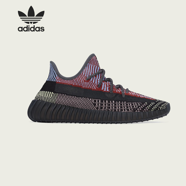 Adidas/阿迪達斯正品 YEEZY 350V2 Yecheil 椰子黑紅跑鞋 FW5190