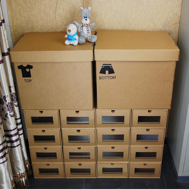 新品组合柜鞋盒防潮收纳透明柜包邮男女纸盒宜家简易抽屉式收纳箱