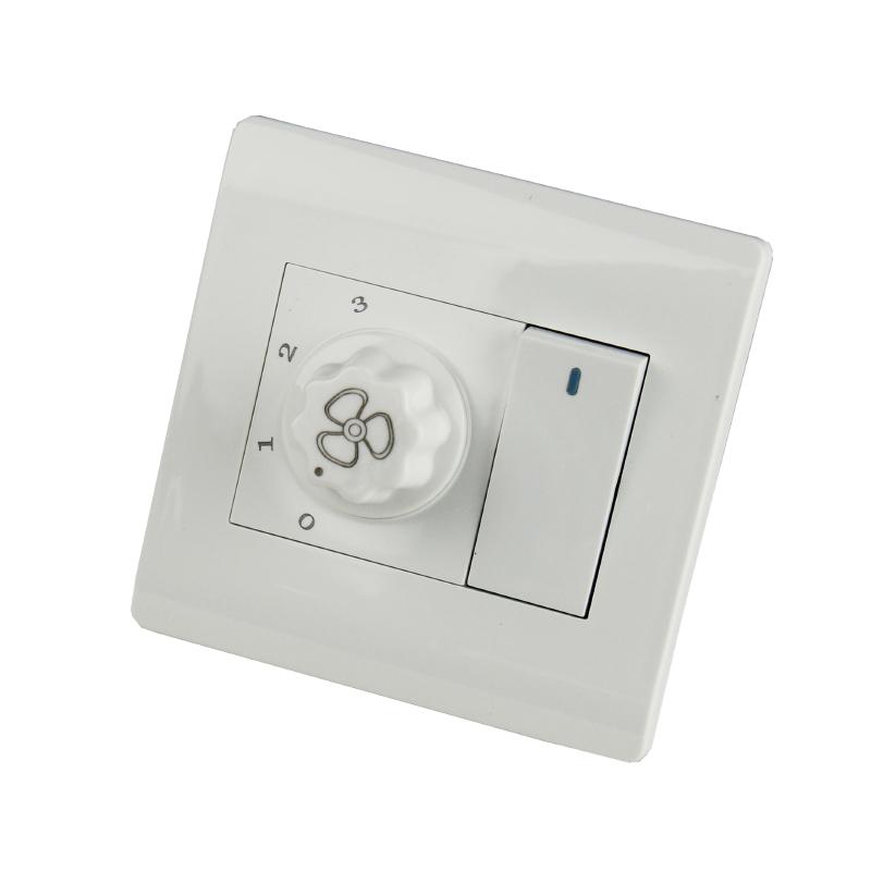 Стена вентилятор электричество вентилятор губернатор переключатель выход панель вешать вентилятор регулятор скорости свет переключатель один открыто единый контроль двойное управление