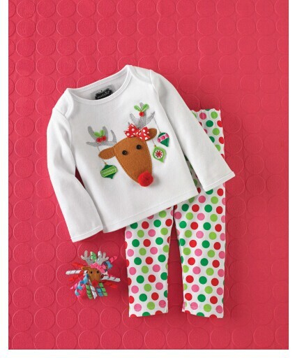 Factory outlet autumn new Santa suit Euro cute little pants sets of the girls A undertakes to