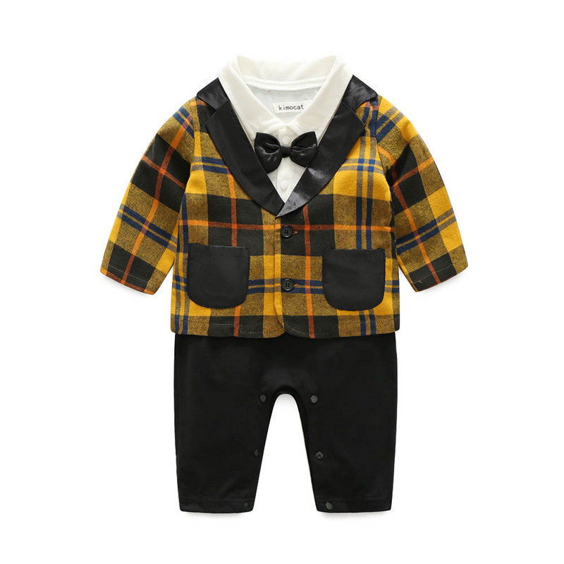 A undertakes foreign trade during the spring and autumn boy 3 color plaid shirt The gentleman bow tie, Velcro suits chil