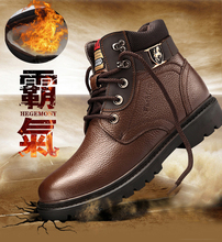 Martin boots, cotton shoes, men's winter furnished warm furnished snow boots, mid-boots, army boots, British outdoor tooling boots