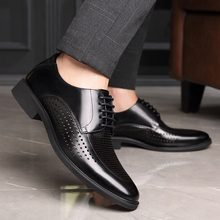 Men's shoes, hole shoes, summer business, leisure, ventilating, hollow shoes, men's leather, cool British men's Korean fashion shoes