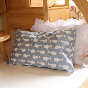 清仓微瑕处理枕头套 纯棉枕套一对装全棉48*74单人学生宿舍枕芯套图片