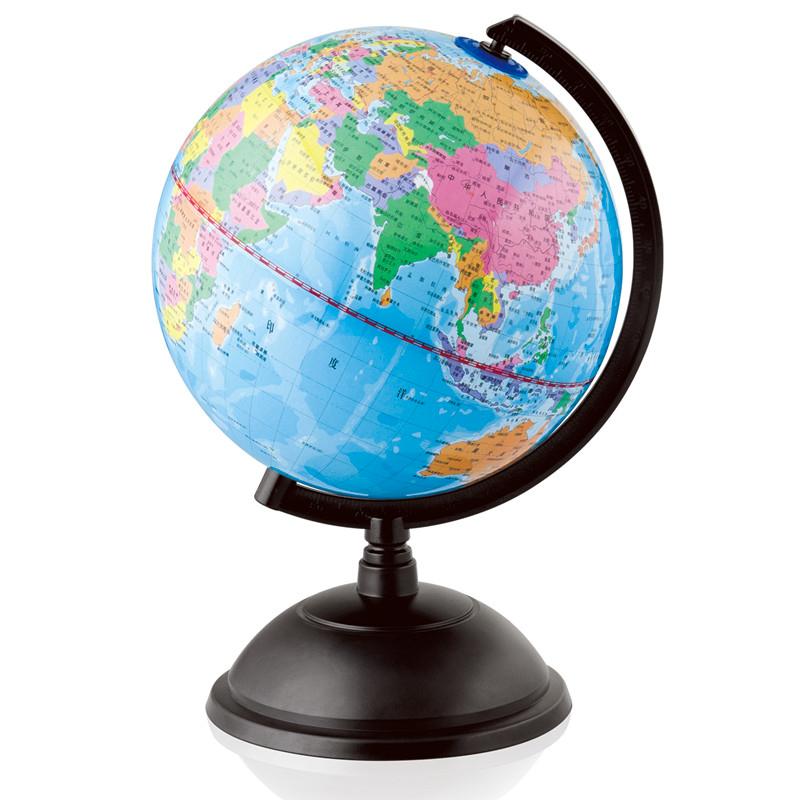 得力地球儀20CM 兒童教學地理桌麵學生文具小地球儀擺件高清 3033