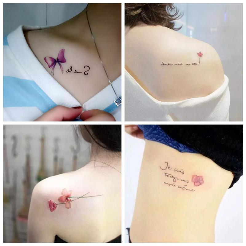 30张少女心纹身贴防水彼岸花女网红同款持久可爱韩国仿真小清新