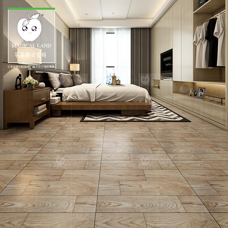 满包邮600规格北美橡木仿木地板砖木纹砖瓷木砖卧室书房防滑地砖
