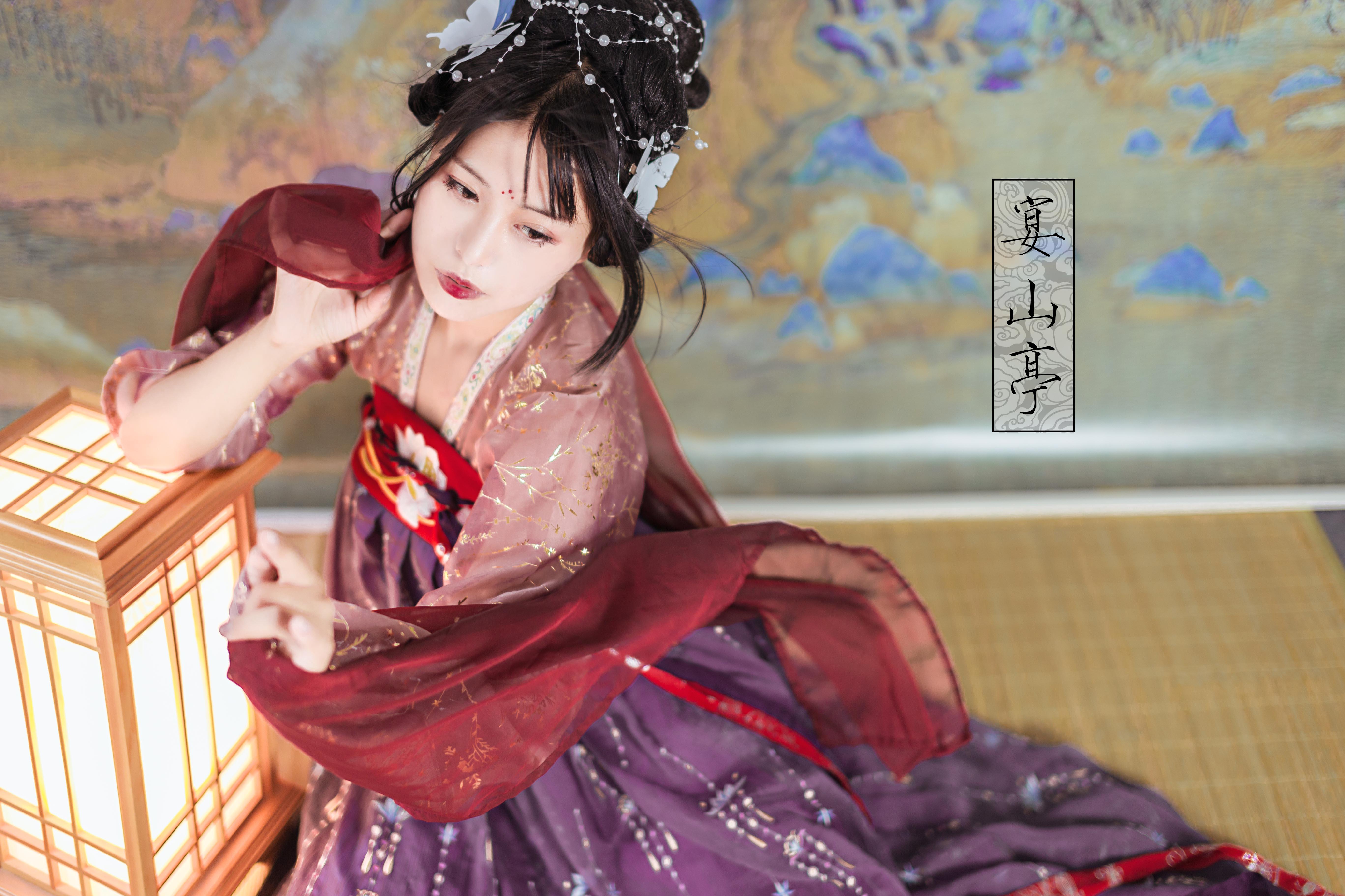 宴山亭传统汉服女夏装 上襦烫金齐胸齐腰雪纺两件套装日常--朝辞