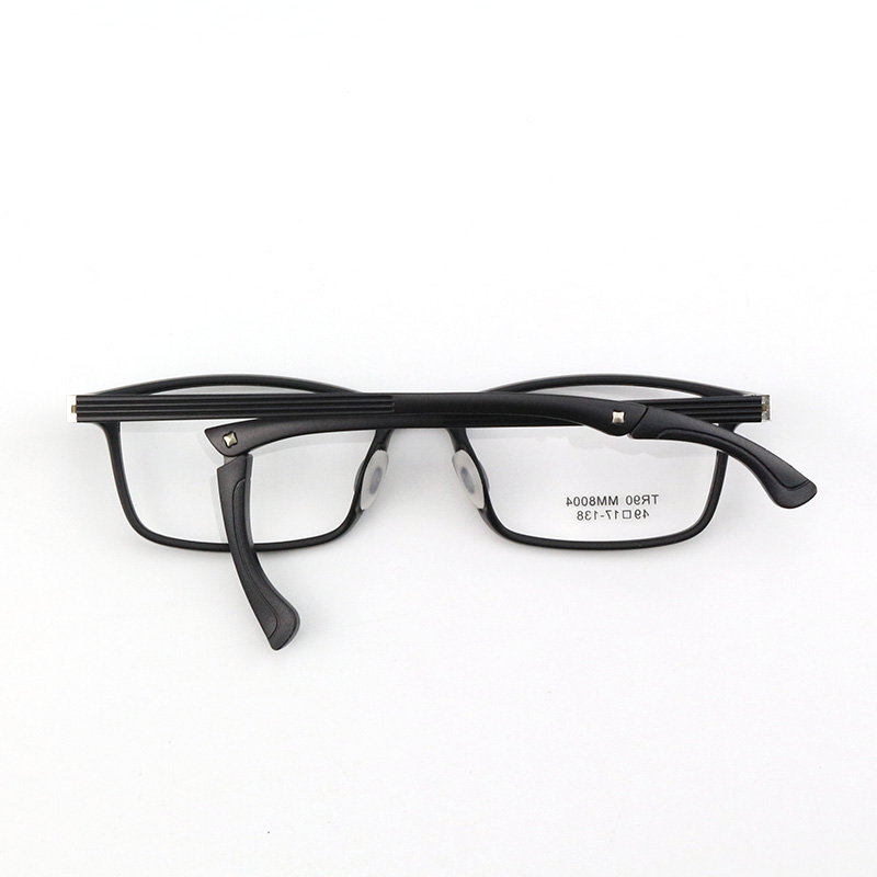 Super light TR90 spectacle frame student sports antiskid mens and womens adjustable spectacle legs with small frame height
