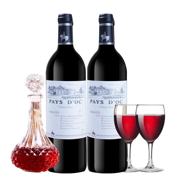 格拉芙骑士格陵堡葡萄酒法国原装原瓶进口红酒750ML