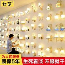 新款欧式水晶壁灯床头灯客厅壁灯走廊过道灯单头双头蜡烛墙壁灯具