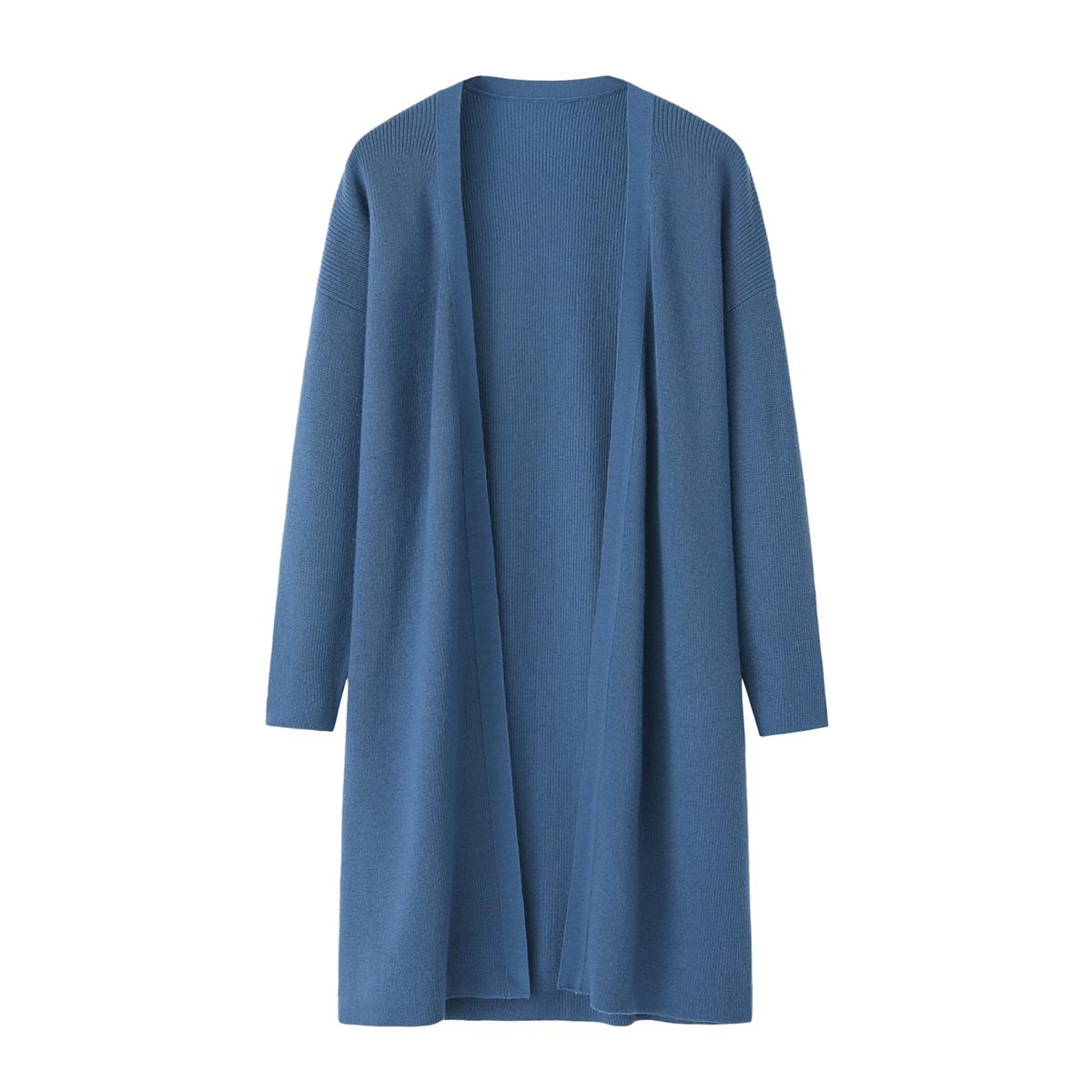 Xingrong genuine autumn and winter new worsted pure sweater womens medium long knitting thin cardigan coat
