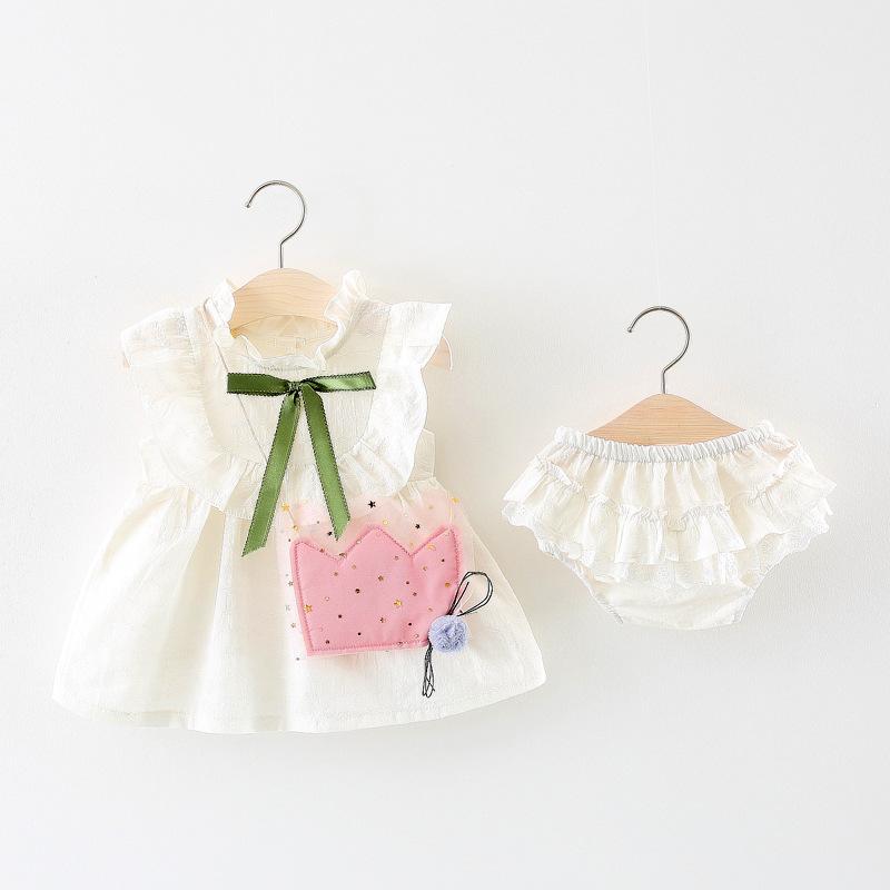 女宝宝夏装套装2018新款0-1-2-3岁韩版纯棉洋气裙子婴儿衣服潮