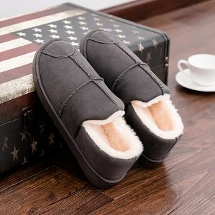 棉拖鞋男士秋冬季2019新款室内居家用包跟防滑耐磨厚底情侣毛毛拖