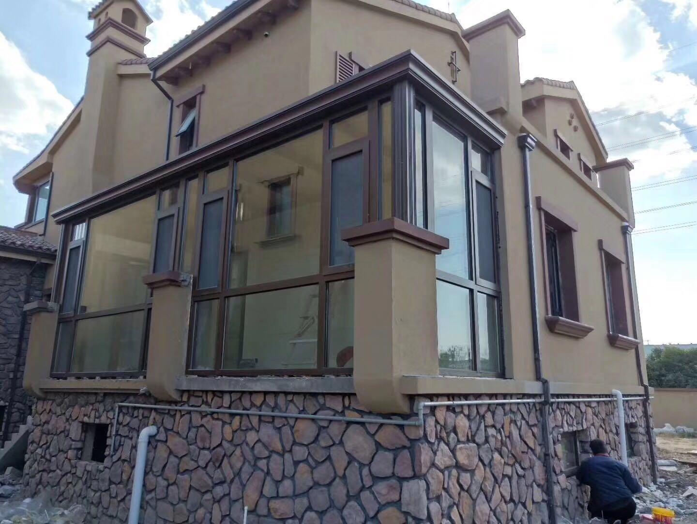 浙江玻璃阳光房断桥铝合金门窗隔音窗户封阳台定制湖州南通阳光房