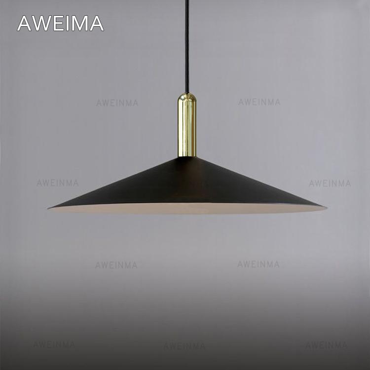 限9000张券丹麦设计北欧极简约现代吊灯/复古单头喇叭l黑色led餐厅吊灯具