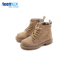 Tianmeiyi children's shoes British Martin boots autumn and winter 2019 new small children's fashion middle tube warm cow leather boots