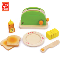 German hape Sunshine breakfast early teach toaster kitchen home 3 year old wooden toy role-playing