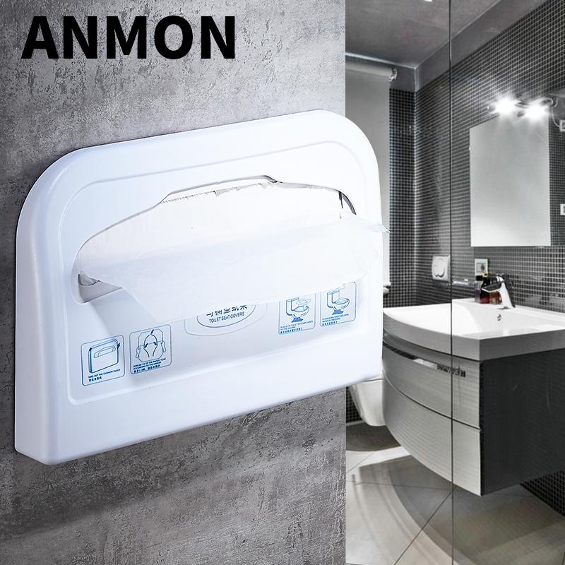 Anmon馬桶坐墊紙盒一次性馬桶坐便紙巾架墊圈塑料廁板紙盒