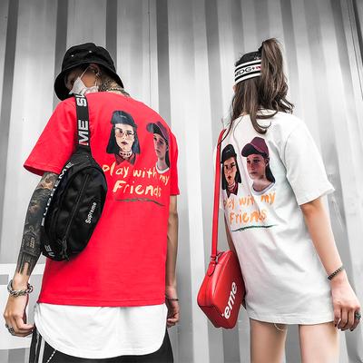 TX10夏装新款国潮情侣装B短袖T恤低于59投诉不撤销P45