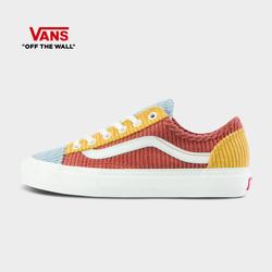 Vans范斯官方 多彩灯芯绒拼色男鞋女鞋Style 36低帮帆布鞋