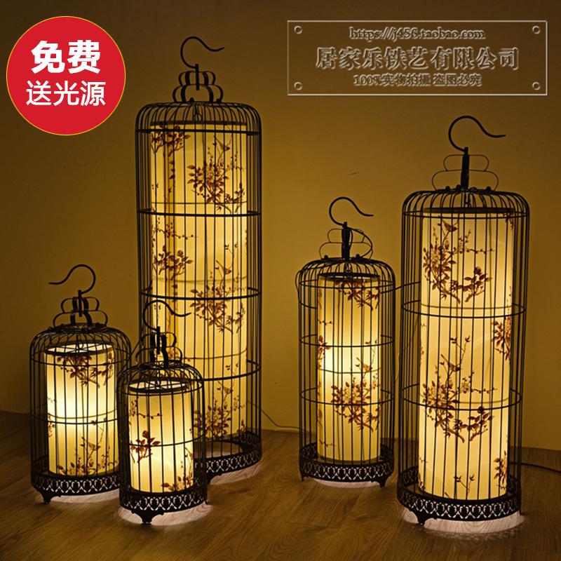 中式铁艺鸟笼灯吊灯创意个性卧室餐厅吊灯具美式复古酒店工程灯饰