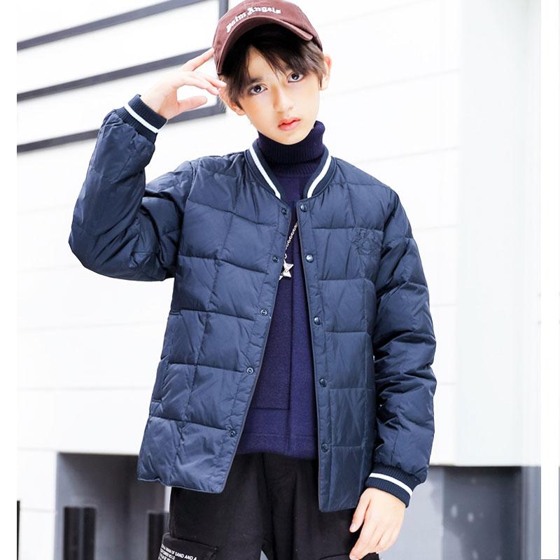 Childrens wear childrens down jacket light and thin boys 2020 new fashion middle school childrens super light cotton jacket school uniform inner jacket