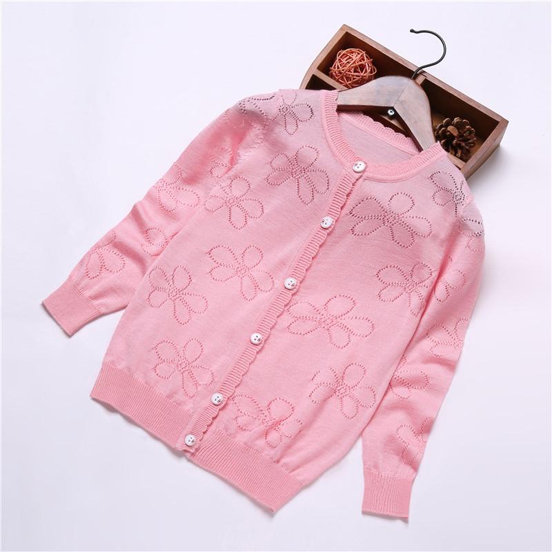 女童针织开衫儿童夏季空调衫防晒衣薄宝宝童装中大童韩版毛衣外套