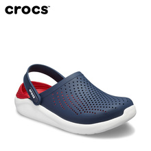 Crocs men's and women's literide casual non slip flat bottom beach shoes new color of karoochi sandals 204592