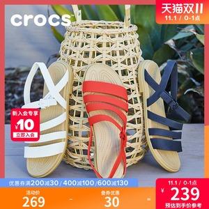 crocs女士卡骆驰特萝莉平底单鞋