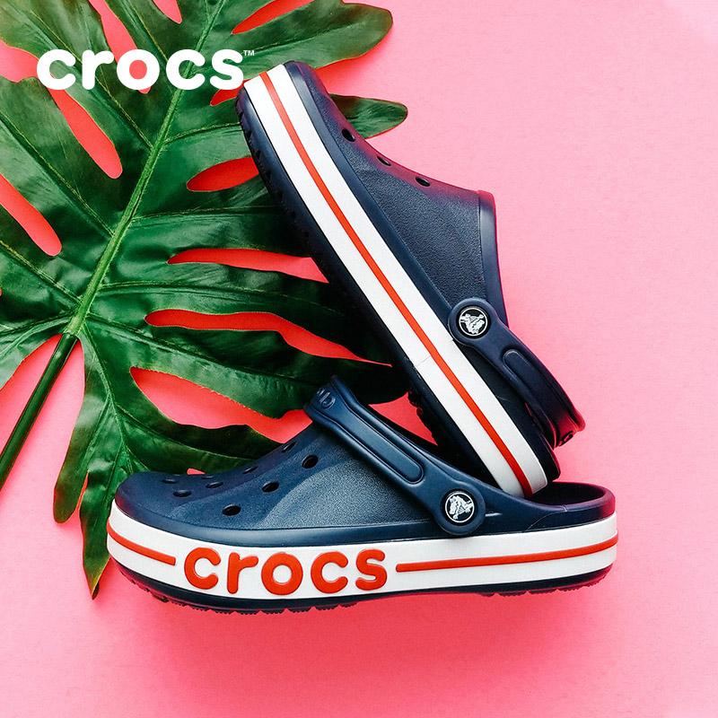 Crocs洞洞鞋男卡骆驰度假防滑女凉鞋包头沙滩鞋外穿凉拖鞋|205089