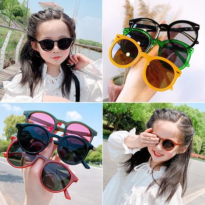 儿童太阳镜宝宝可爱卡通防紫外线墨镜潮男童女童眼睛时尚眼镜框