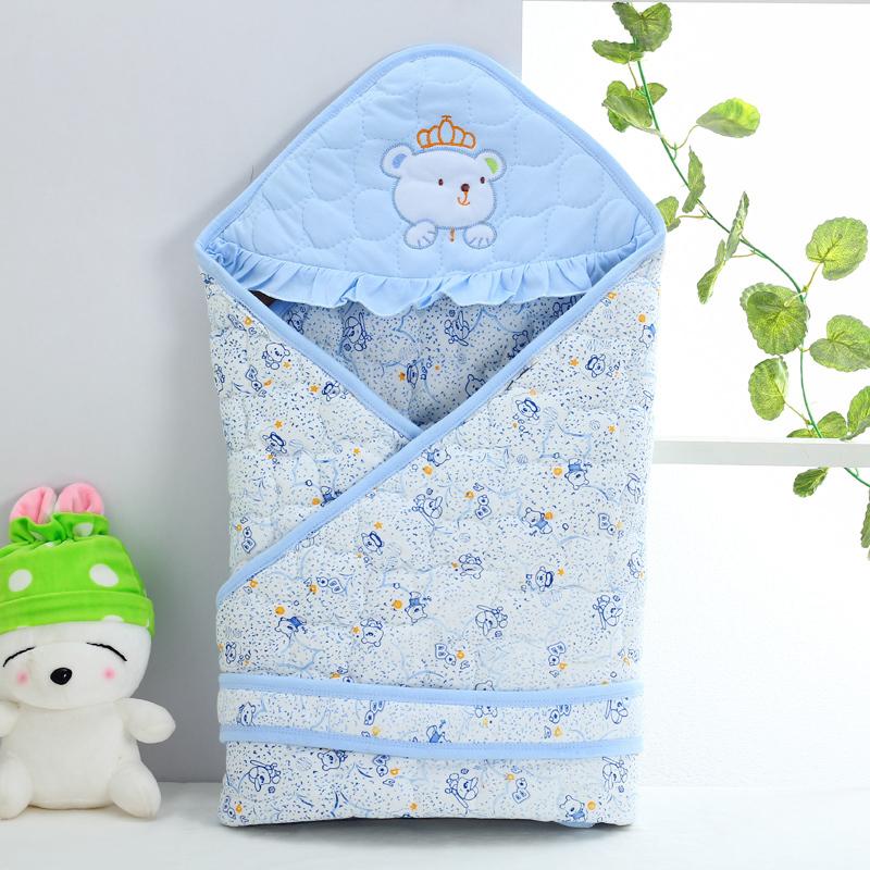 婴儿包被新生幼儿春秋冬季款薄棉抱被初生宝宝加厚抱毯子襁褓包裹