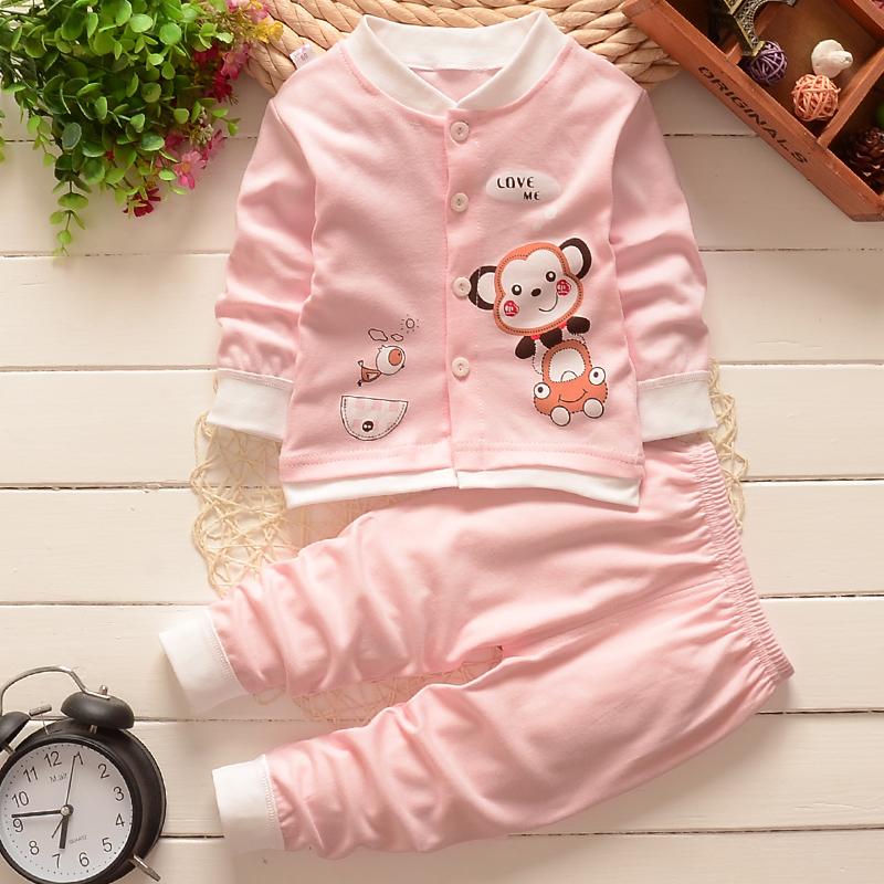 1-2-3岁婴幼儿童小孩宝宝春秋长袖长裤纯棉套装全棉家居内衣服装