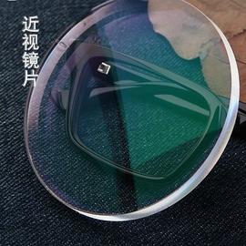 1.56 1.61 1.67 1.74非球面防辐射绿膜树脂超薄近视平光镜片辐射
