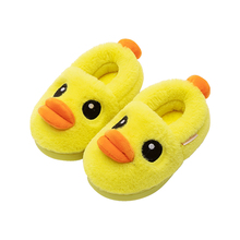 Children's cotton slippers girls' autumn and winter baby girls' wrap heel 1-3 years old 2 boys' children's indoor wool household cotton shoes