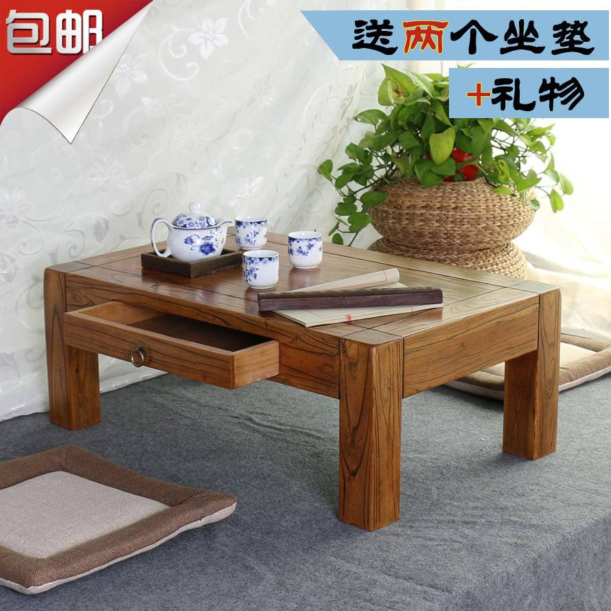 Старый вяз татами кофейный столик дерево в ящике эркер стол простой балкон маленький столик окно тайвань короткая стол таблица