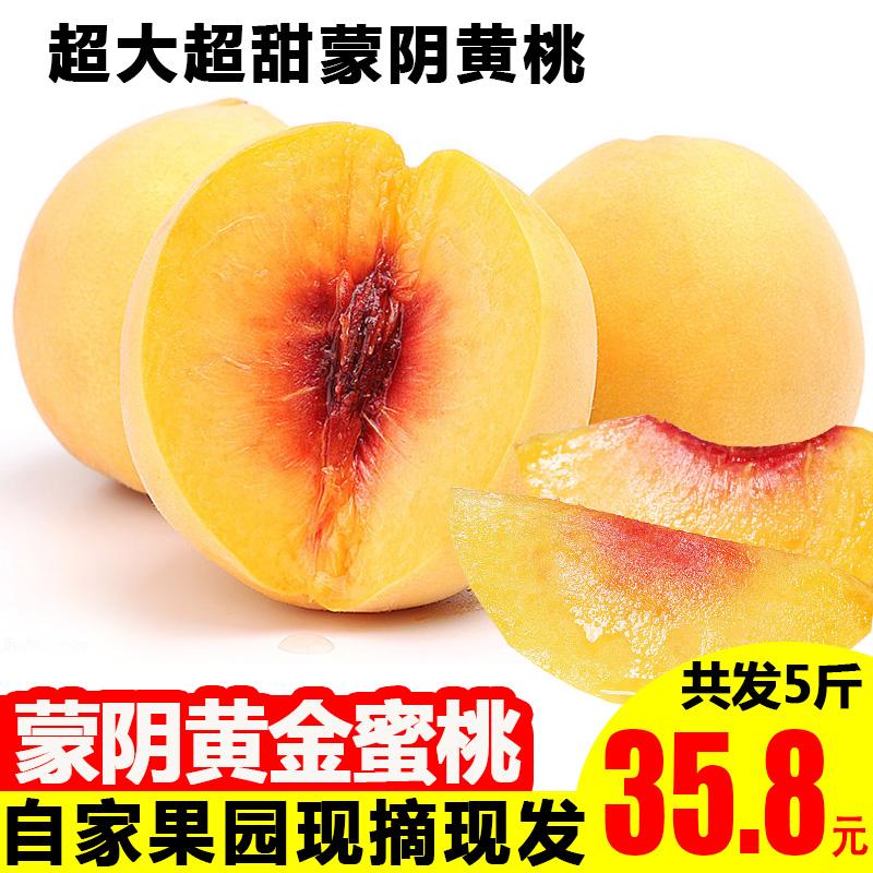 165.80元包邮售罄锦绣黄桃新鲜现摘孕妇山东毛桃
