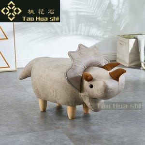 动物换鞋凳子实木宜家用宝宝可爱卡通沙发圆凳创意大象儿童小板凳