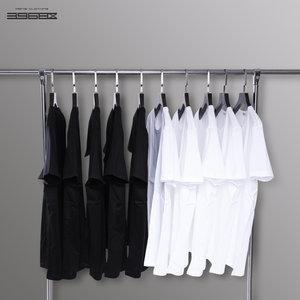 200g美国棉白色t恤男短袖打底衫
