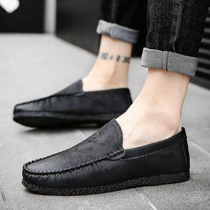 春季2020新款男鞋百搭潮鞋皮鞋男一脚蹬豆豆鞋男士懒人夏季休闲鞋