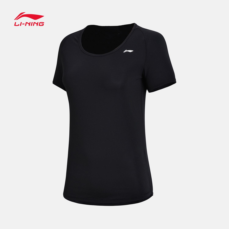 李宁短袖女士T恤2018新款训练衣速干圆领女装夏季透气超薄运动服
