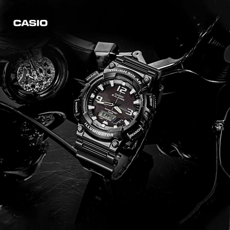 casio旗舰店AQ-S810运动防水潮流电子小黑表男手表卡西欧官网官方图片