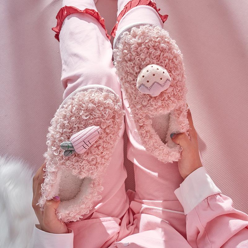 棉拖鞋女包跟可爱厚底家用秋冬季评价好不好