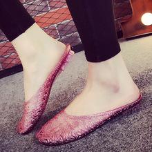 夏季新款拖鞋女水晶果冻鞋家居家室内包头塑料沙滩防滑凉拖鞋