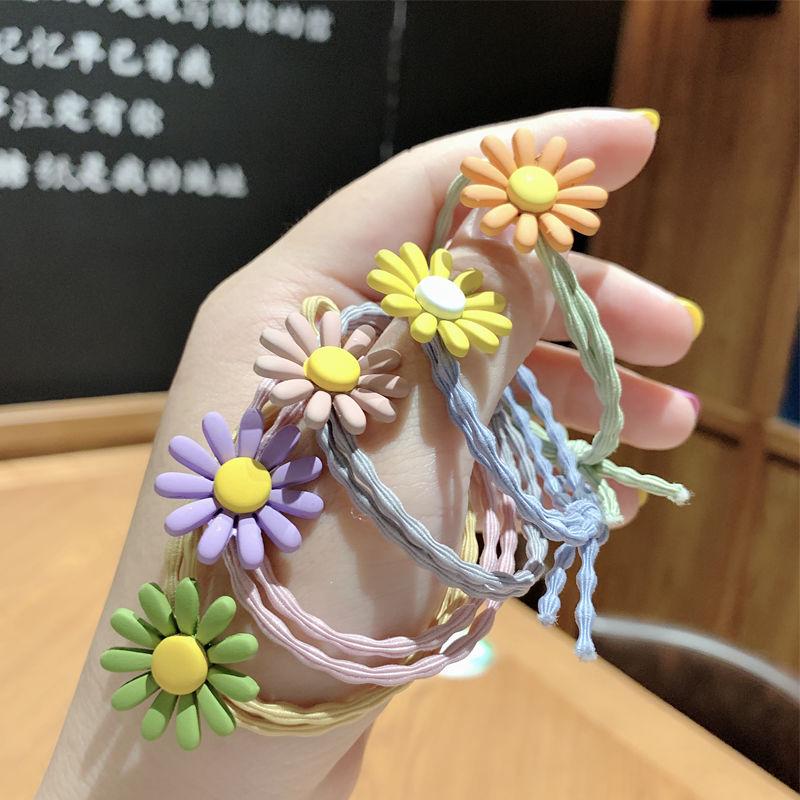 Korean style elegant style sweet little Daisy Hair ring lovely hair rope tie HAIR BAND HEADBAND Seng female hair accessories